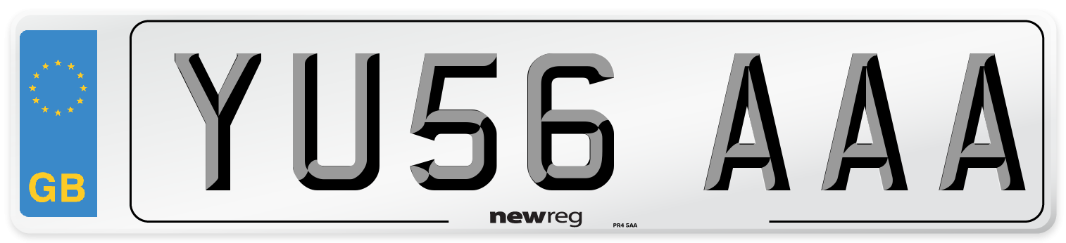 YU56 AAA Number Plate from New Reg